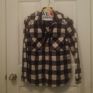 J Crew Buffalo Plaid Half Zip Pullover